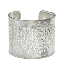 Load image into Gallery viewer, silver cut out cuff bracelet