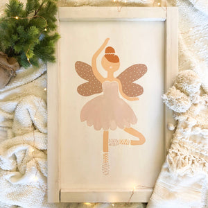 Sugar Plum Fairy Wooden Sign