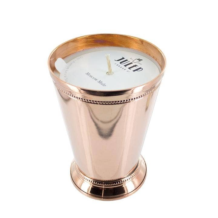 moscow mule julep cup candle
