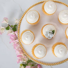 Load image into Gallery viewer, Cake Plate in White & Gold
