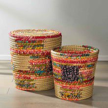 Load image into Gallery viewer, Pop Top Chindi Baskets-Small