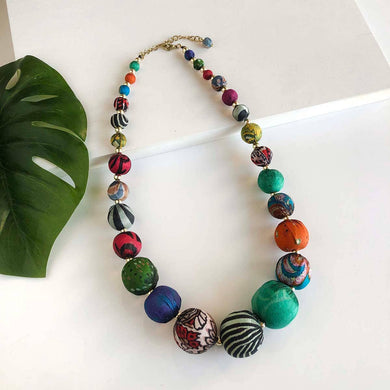 Sari Silk Graduated Necklace