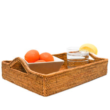 Load image into Gallery viewer, Rattan Tray with Handles