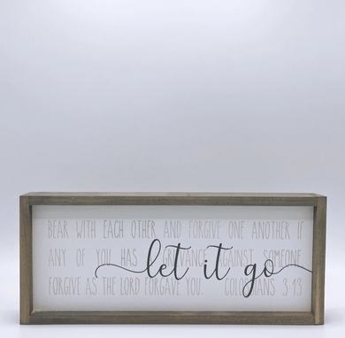 Let It Go Wood Sign