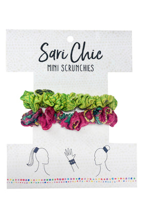 Sari Mini Scrunchies