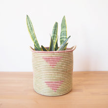 Load image into Gallery viewer, Pink Triangle Handled Storage Basket