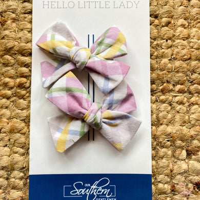 plaid hair bows