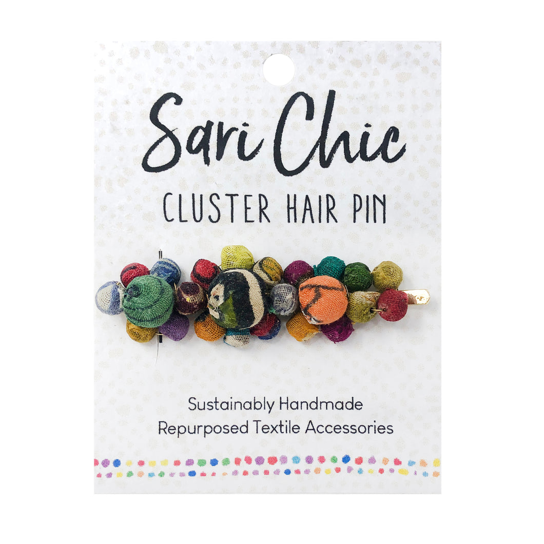 Sari Chic Kantha Cluster Hair Pin