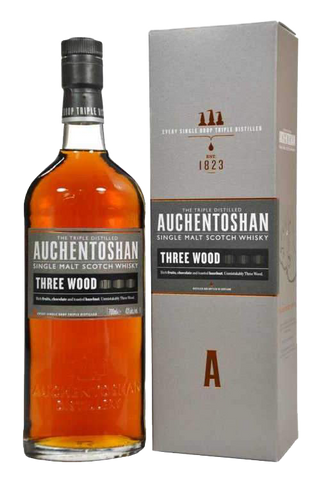 Auchentoshan Three Wood Scotch Whisky, 750mL