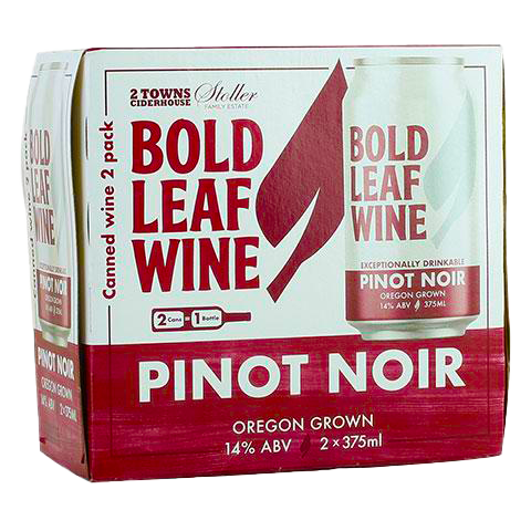 Bold Leaf Wine Pinot Noir, 2-pack (375mL)