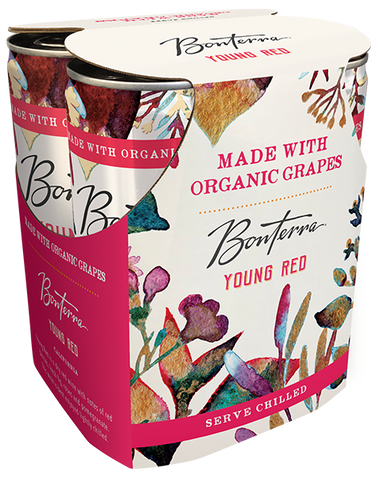 Bonterra Organic Wine Young Red, 4-pack (187mL)