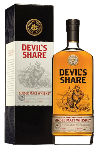 Devil's Share California Small Batch Single Malt Whiskey, 750mL