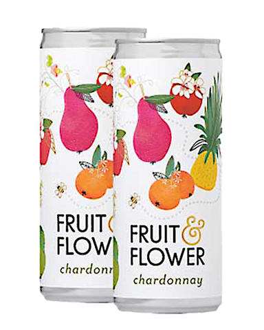 Fruit & Flower Wine in a Can - Chardonnay, 2-pack (250ml)