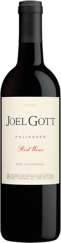 Joel Gott Palisades Red Wine, 2015