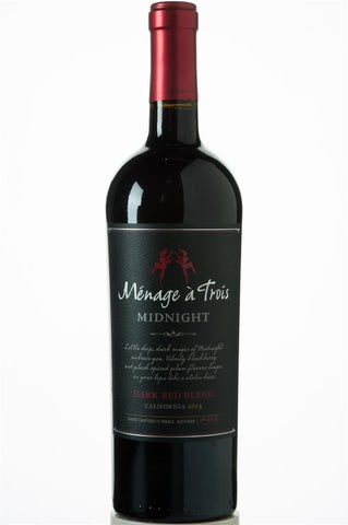 Menage a Trois Midnight Dark Red Blend 2015