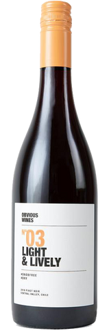 Obvious Wines No 03 Light & Lively Pinot Noir, 2018