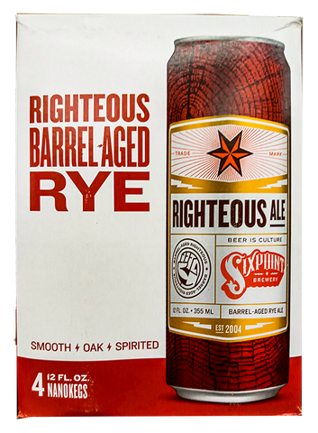 Sixpoint Righteous Ale Barrel-Aged Rye, 4-pack (12oz)