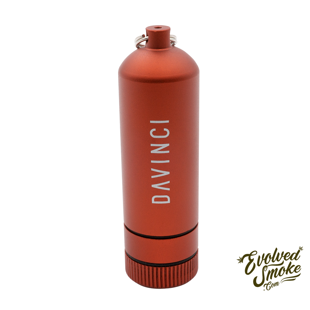 Davinci Miqro Carry Can - Red  | EvolvedSmoke.com | Shop Vaporizers, Bongs, Glassware & Accessories