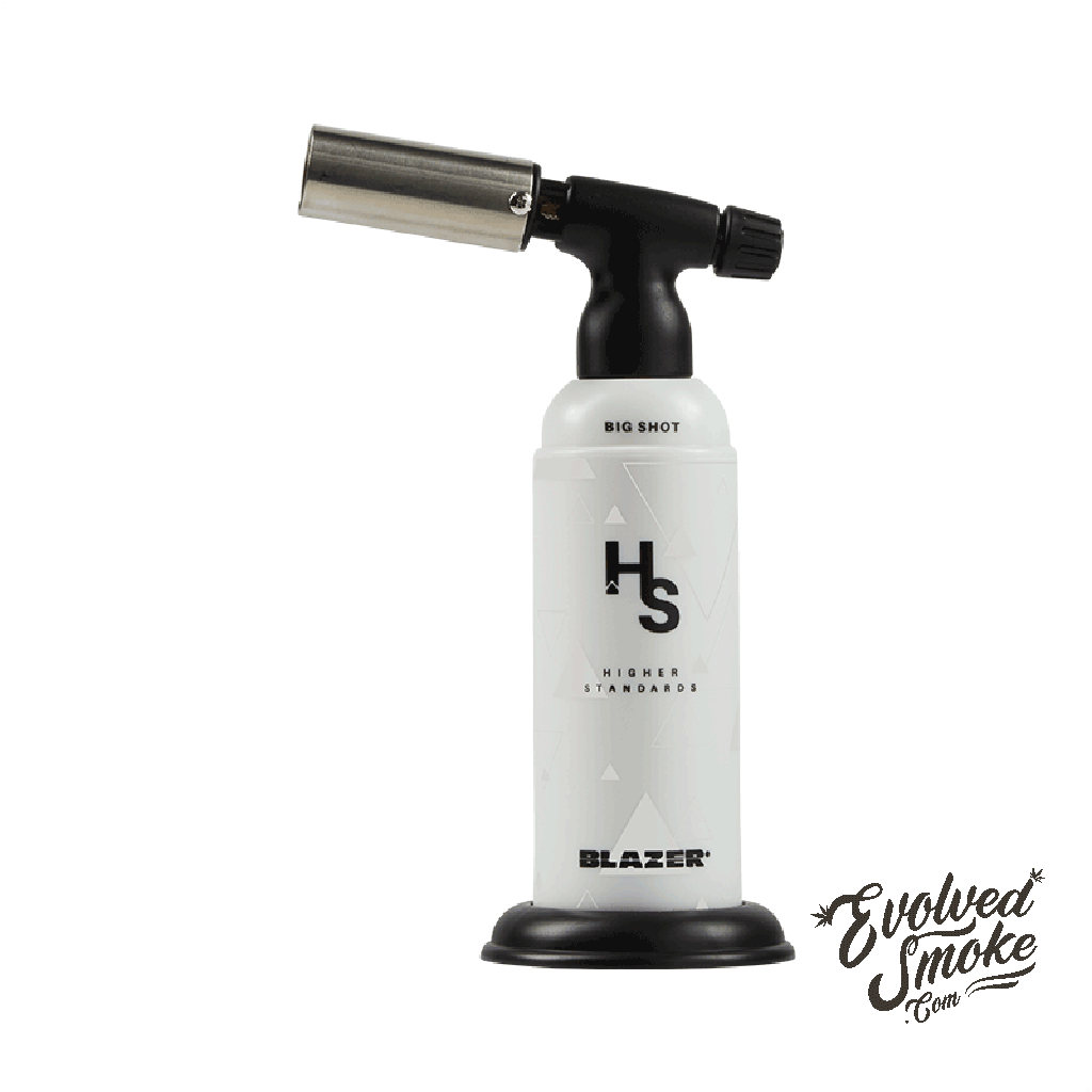 Higher Standards Blazer Big Shot Torch | White | EvolvedSmoke.com | Accessories