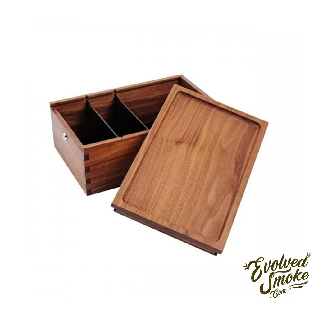 Stash Box-Lock Box-Black Walnut-Marley Natural  | EvolvedSmoke.com | Shop Vaporizers, Bongs, Glassware & Accessories