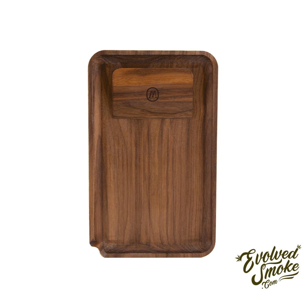 Marley Natural Black Walnut Rolling Tray - Accessories - EvolvedSmoke