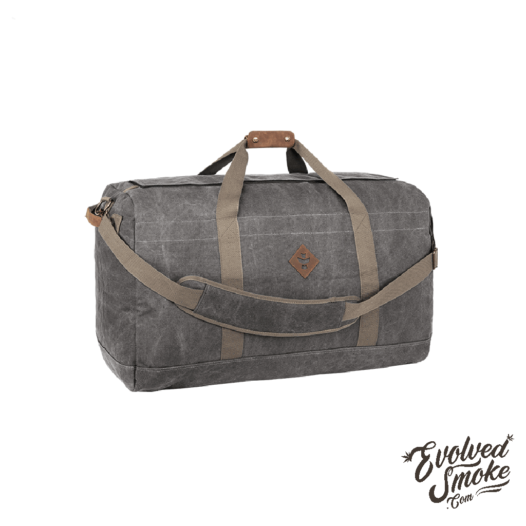 The Continental-Large Duffle-Ash | EvolvedSmoke.com | Shop Vaporizers, Bongs, Glassware & Accessories