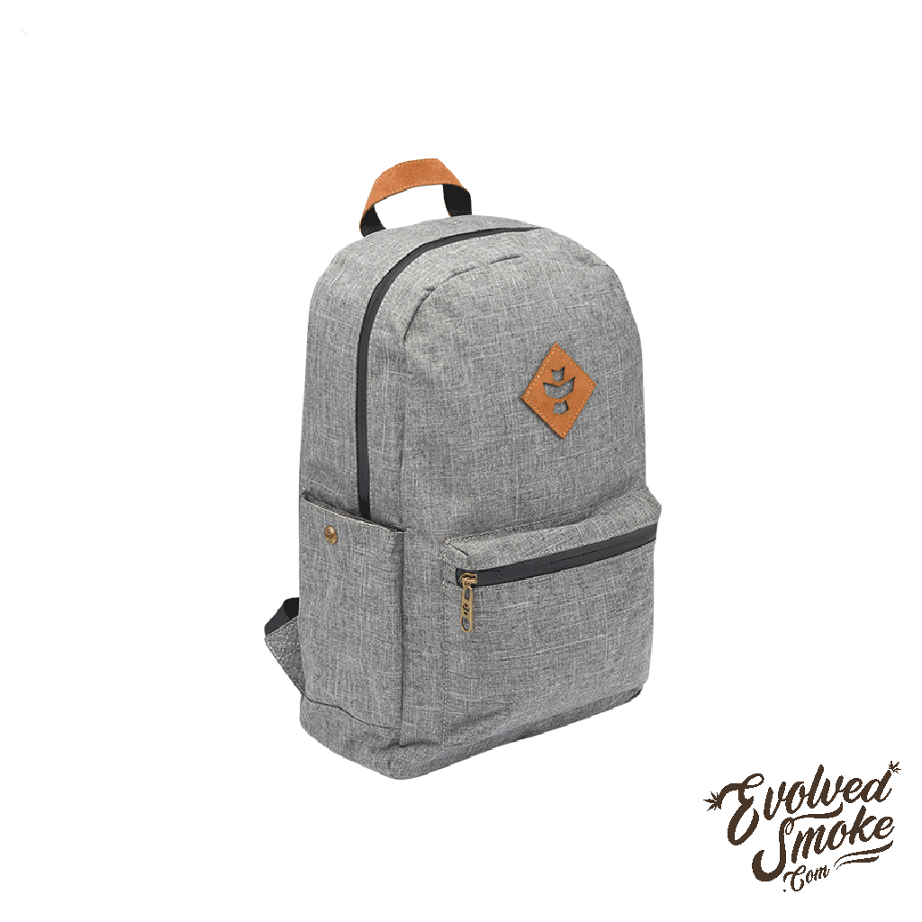 The Escort Backpack | Revelry Supply | Crosshatch Grey | 18L | EvolvedSmoke.com