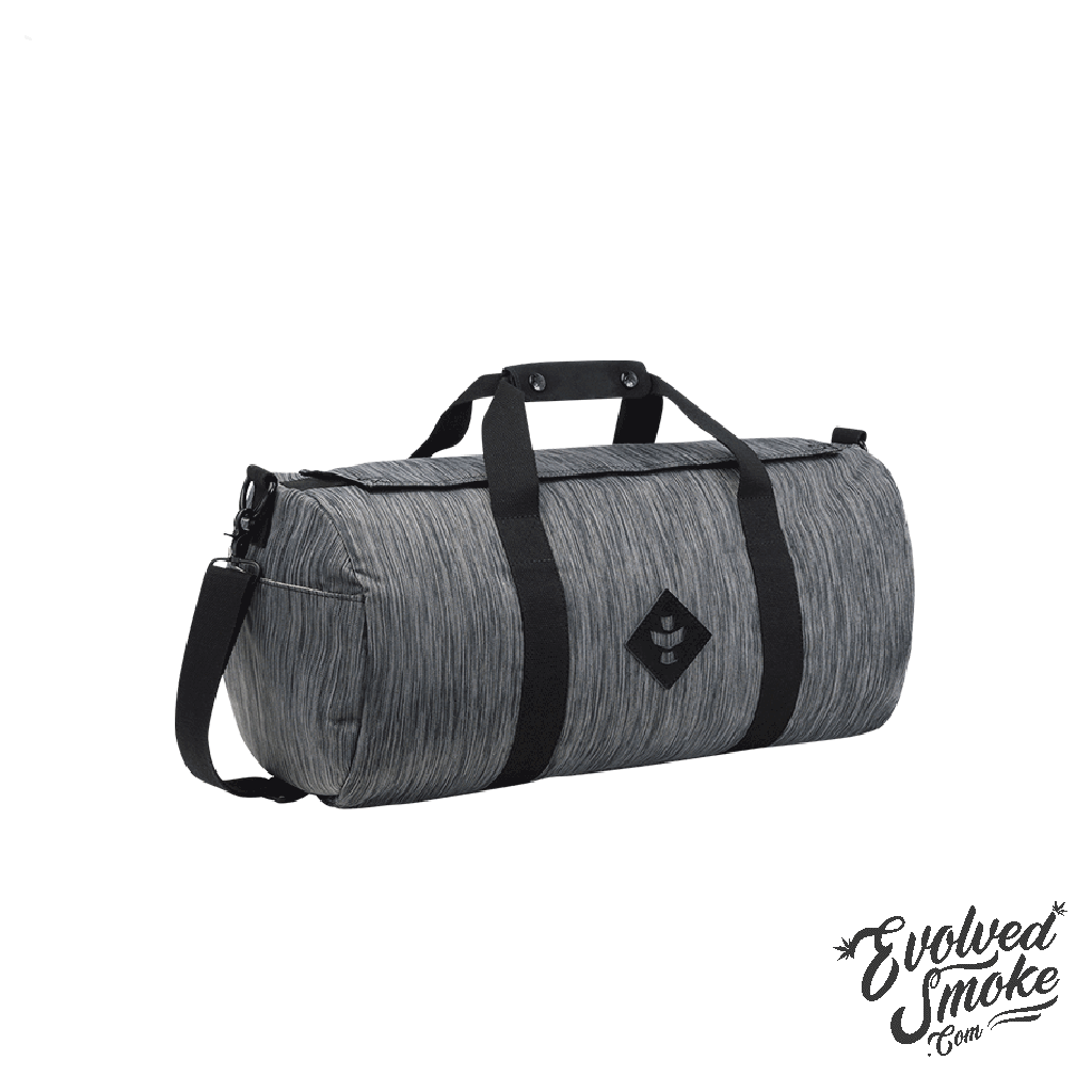The Overnighter-Small Duffle-28L-Revelry Supply-Dark Grey-Striped-EvolvedSmoke.com