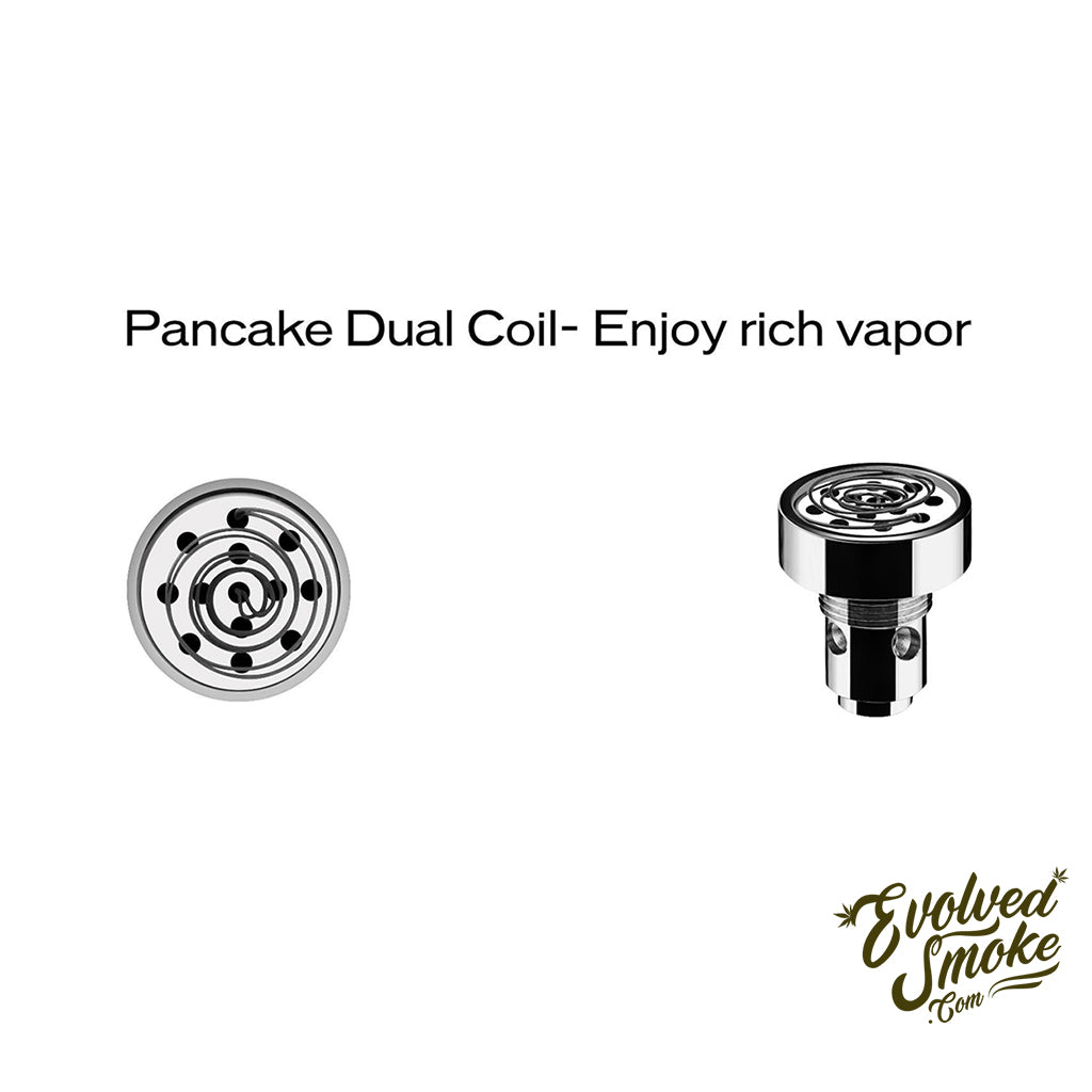 Yocan Evolve D Pancake Dual Coil (5 Pack)  | EvolvedSmoke.com | Shop Vaporizers, Bongs, Glassware & Accessories