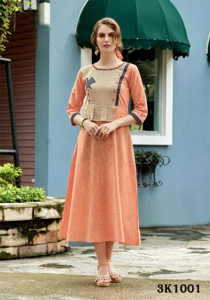 LATEST HEAVY KHADI COTTON KURTI