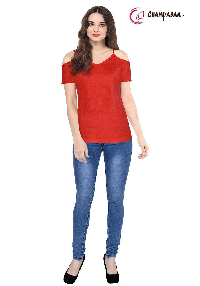 New Women Red T-Shirt