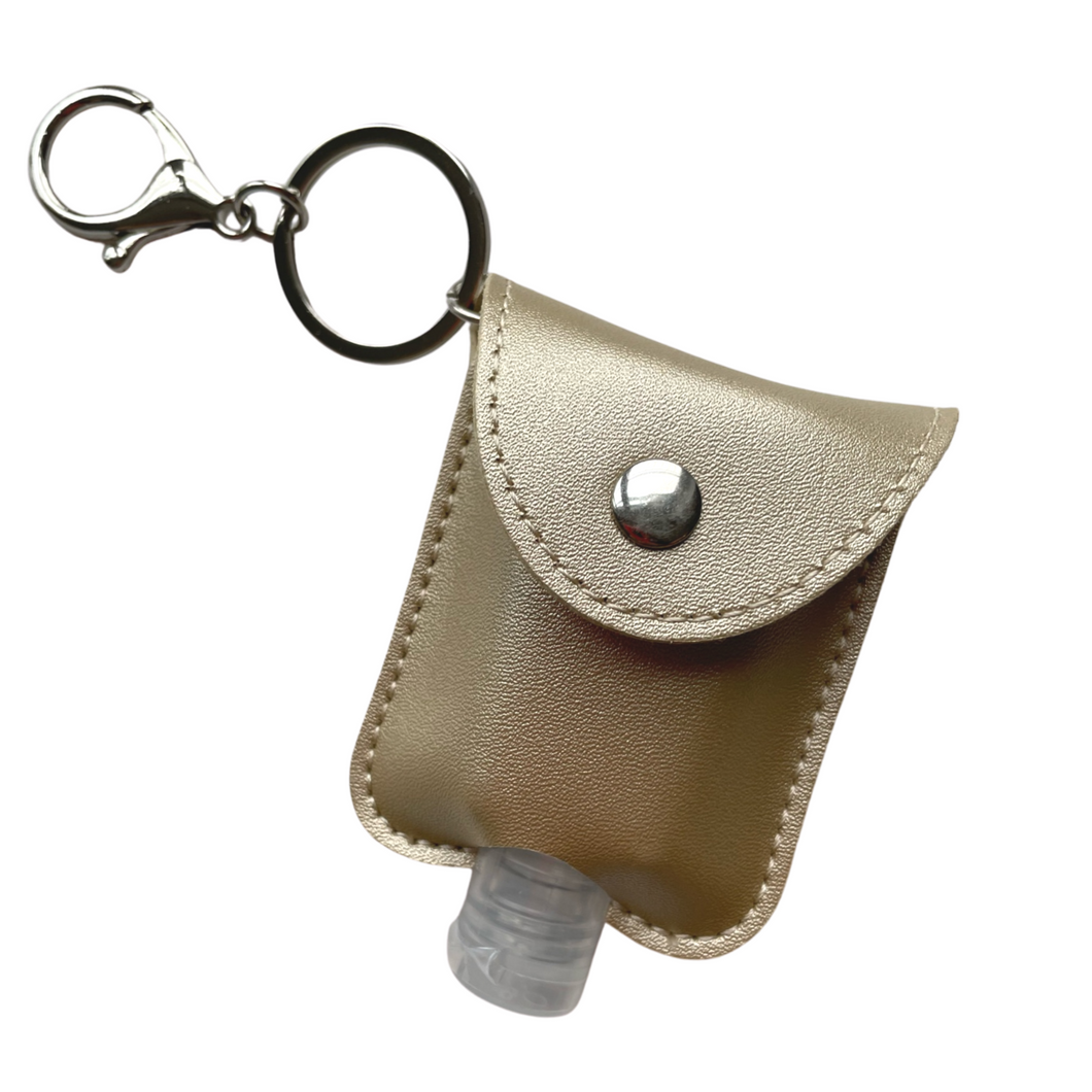 Sanitiser Keyring Holder - Gold