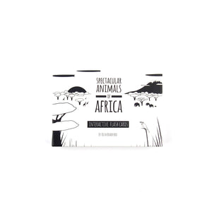 The Little Black & White Book Project African animals baby and todder flash cards