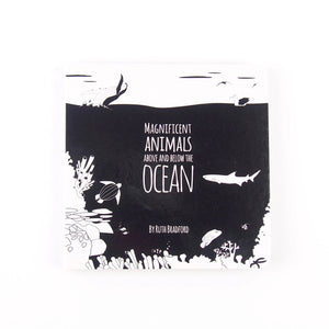 Ocean animals black & white baby book for babies and toddlers