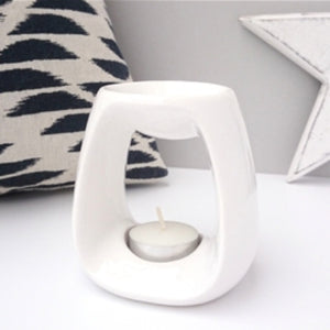 Ceramic Wax Melt Burner - White
