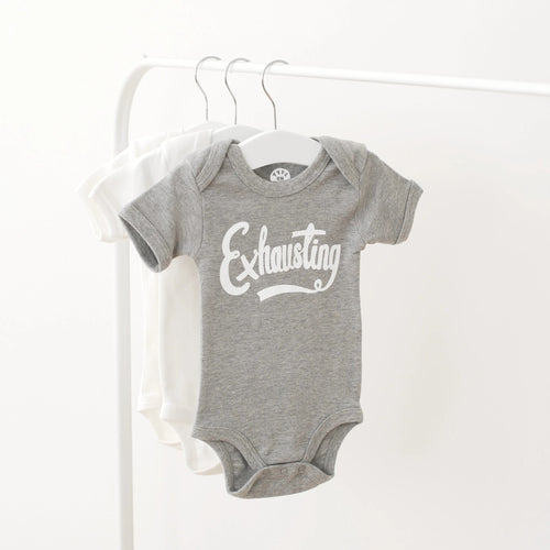 Alphabet Bags Exhausting slogan grey baby vest gift for newborn