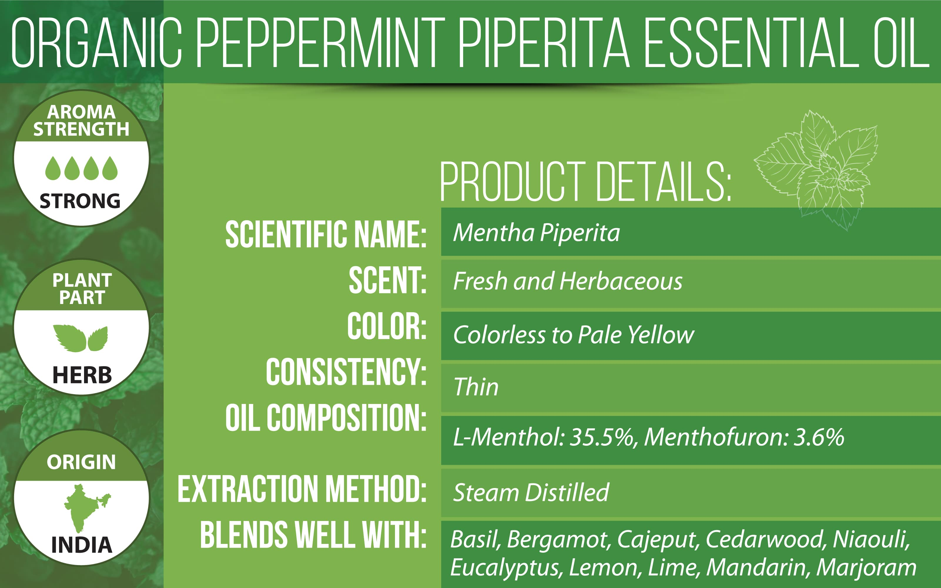 Organic Peppermint Essential Oil Product Details