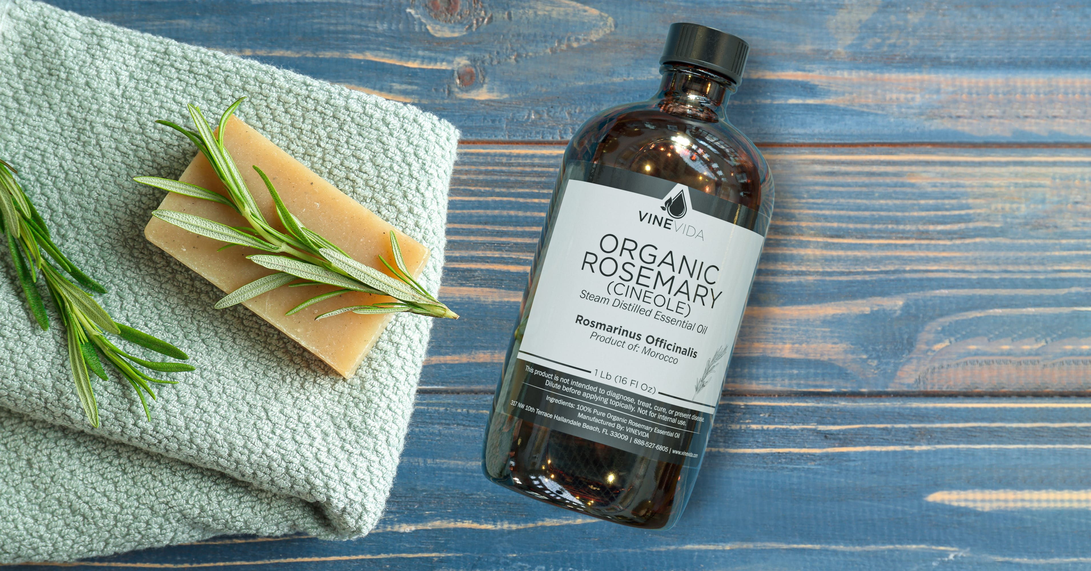 Organic Rosemary Essential Oil Soap Making