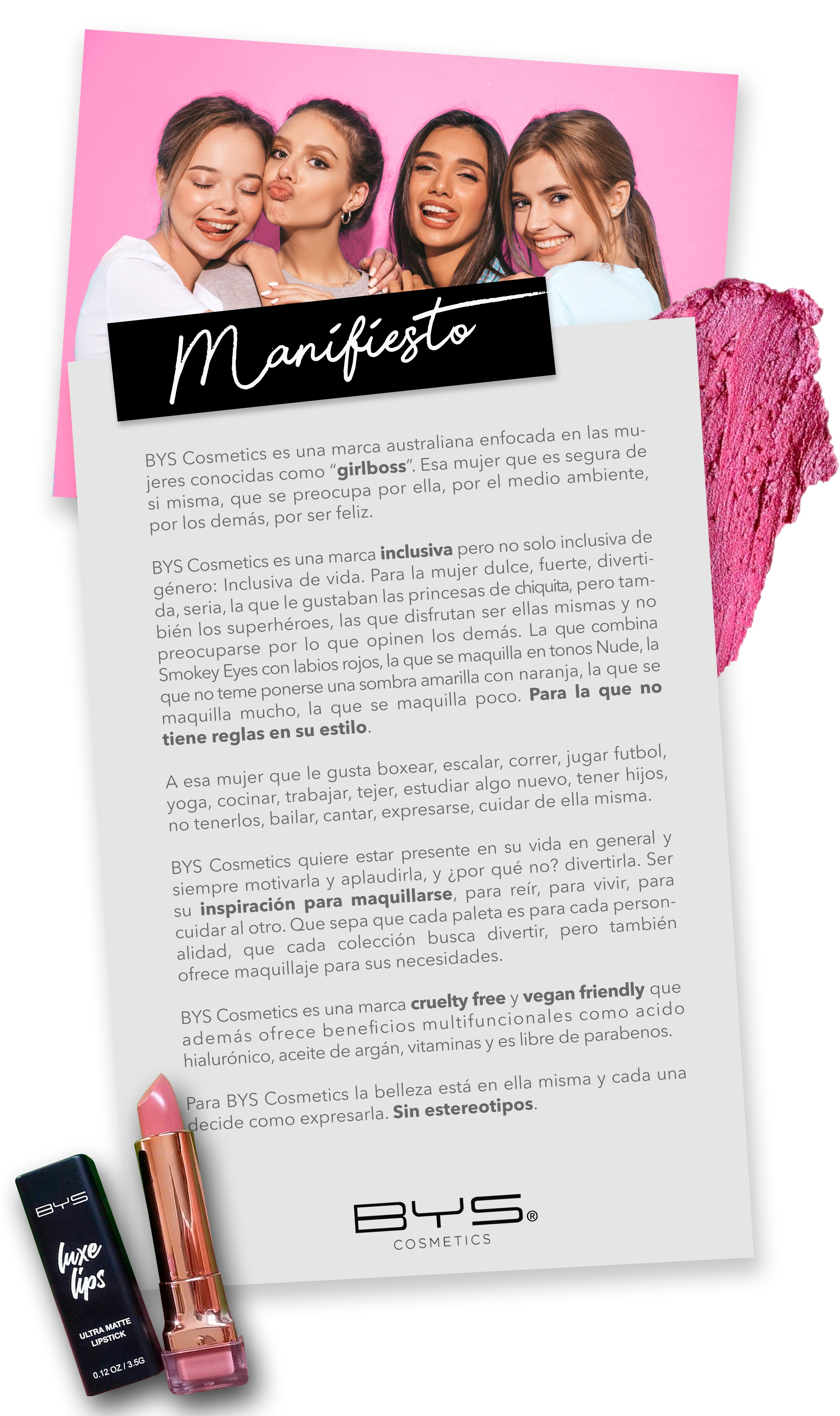 manifiesto BYS cosmetics
