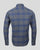 Milton Shirt Men Blue/Grey