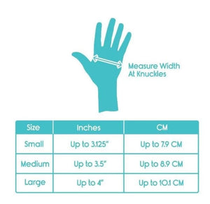 Ease of use compression gloves