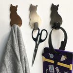 2pcs Self Adhesive Hooks Cat Pattern Storage Holder