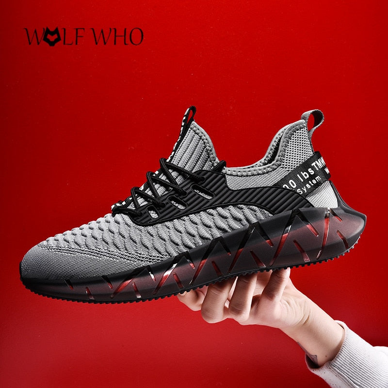 New Casual Men Black Sneakers Shoes