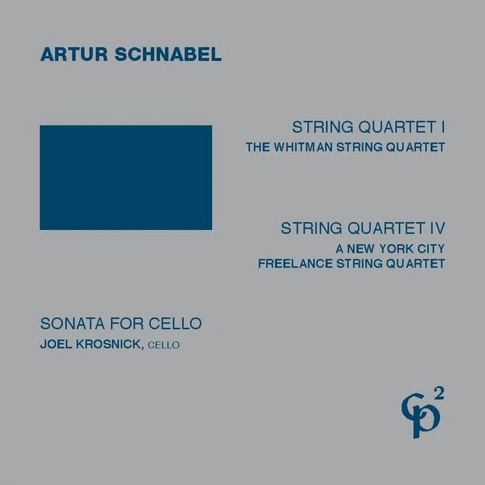 Schnabel // String Quartets 1 & 4; Sonata for Cello 2CD