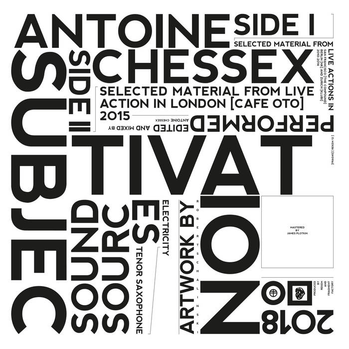 Antoine Chessex // Subjectivation LP