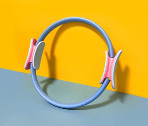 "CrazyBee Fitness Snow Blue 15""  Unbreakable Pilates Resistance Ring _CrazyBee"