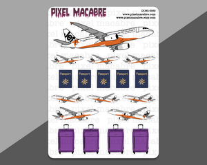 Flight and Travel Deco Stickers