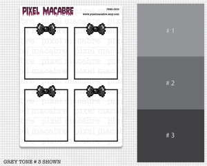 Pixel Bow Full Box Old Stock Sticker Bundle - 3 Greyscale Sheets