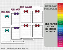 Load image into Gallery viewer, Pixel Bow Full Box Old Stock Sticker Bundle - 20 Sheets
