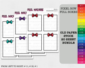 Pixel Bow Full Box Old Stock Sticker Bundle - 20 Sheets